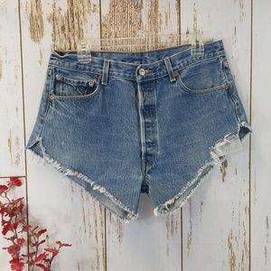Levis 501xx cutoff shorts